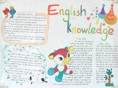 English Knowledge 英语手抄报