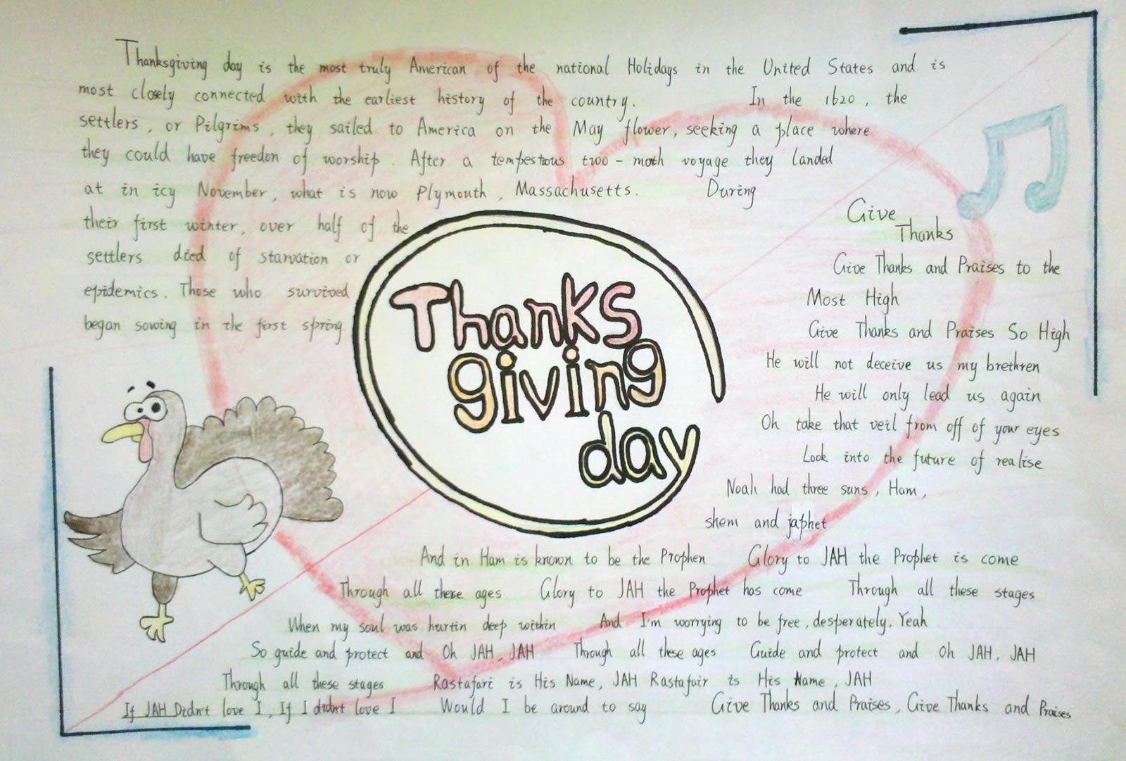 感恩节英语手抄报
