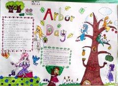 小学生植树节英语手抄报图片