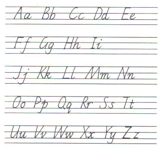 26个英文字母表书写3