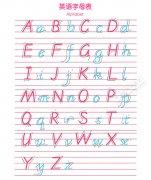 26个英文字母表_英语26个字母表_26个大小写字母表图片