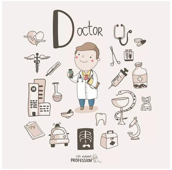 alexandra dikaia的26个字母的职业简笔画,超可爱!图片