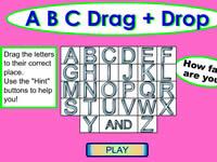 ABC 26個字母拖放游戲
