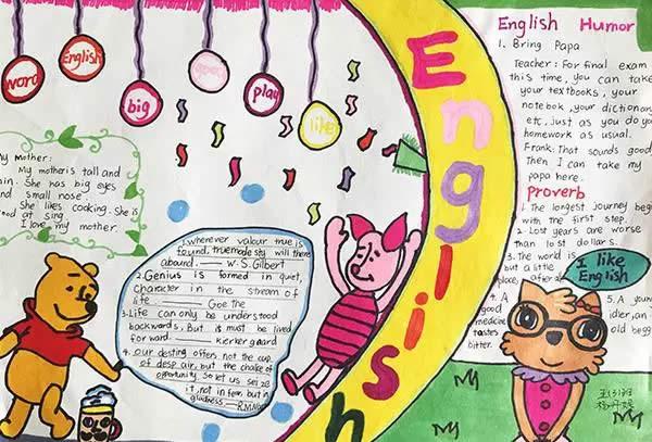 english学习五年级小学生英语手抄报