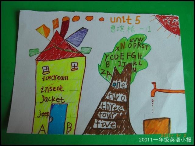 一年级小学生单元英语手抄报图片