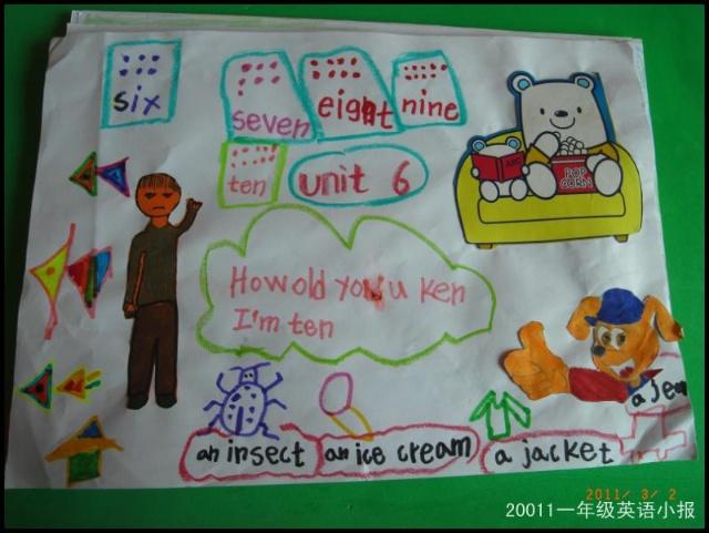 一年级的小学生英语手抄报图片