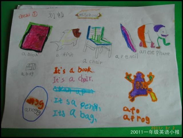 英语一年级abc英语手抄报图片