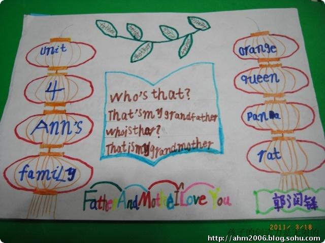 二年级小学生单词英语手抄报图片图片