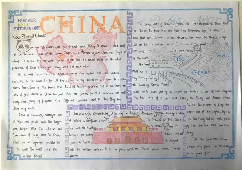 China介绍主题英语手抄报