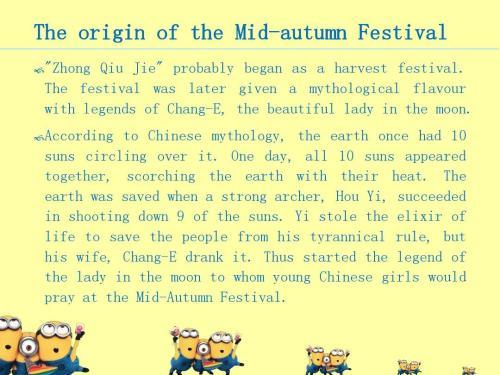 Mid Autumn中秋节小学生英语手抄报、英语小报5