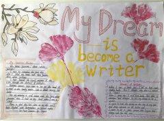 My Dream小学生英语手抄报、英语小报展