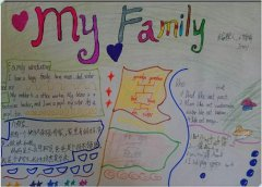 my family 小学生英语手抄报