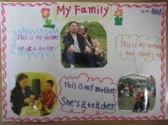 二年级小朋友的my family 英语手抄报