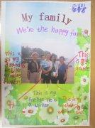 二年级小学生my family 英语手抄报图片