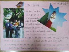 小学二年级学生my family 英语手抄报图片