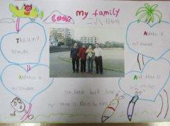 二年级小学生my family 英语手抄报大全