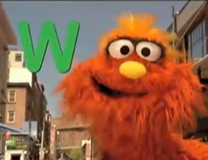 """Sesame Street:The letter """"W!"""""""