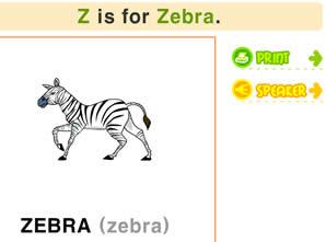 26個字母學習_Z字母書寫/發音/涂色及單詞