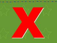 26個英文字母發音_字母X的發音